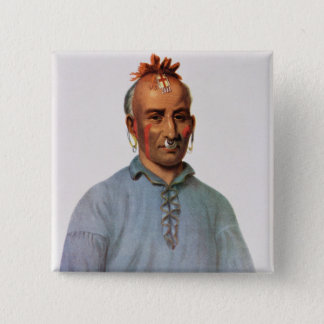 Kish-Kal-Wa, a Shawnee Chief Pinback Button