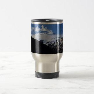 Kiska Island volcano and auklet colony 15 Oz Stainless Steel Travel Mug