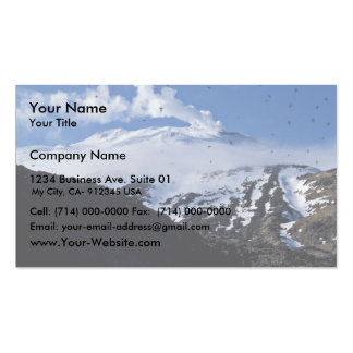 Kiska Island volcano and auklet colony Double-Sided Standard Business Cards (Pack Of 100)