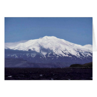 Kiska Island Volcano Greeting Card