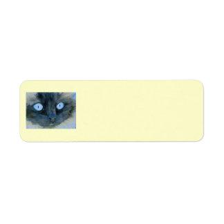 Kismet el gato de Ragdoll Etiqueta De Remitente