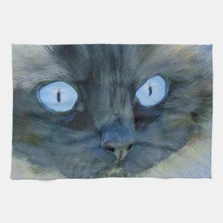 Kismet the Ragdoll Cat Hand Towel
