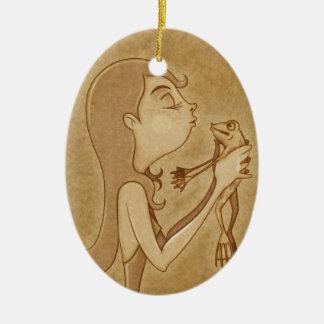 Kiss 3 ceramic ornament