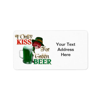 Kiss 4 Beer - St Patrick's Address Label