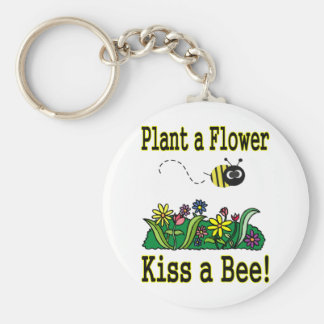 Kiss a Bee Keychain