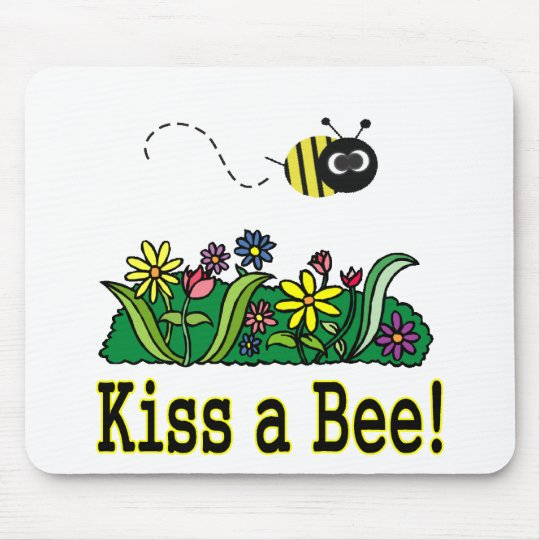 Kiss a Bee Mouse Pad