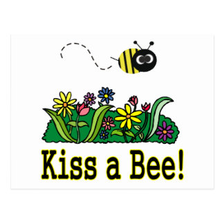 Kiss a Bee Postcard