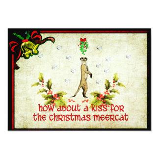 Kiss A Meerkat 5x7 Paper Invitation Card