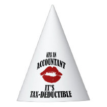 kiss an accountant funny CPA Party Hat