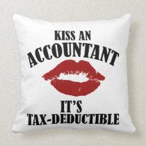 kiss an accountant funny CPA Throw Pillow
