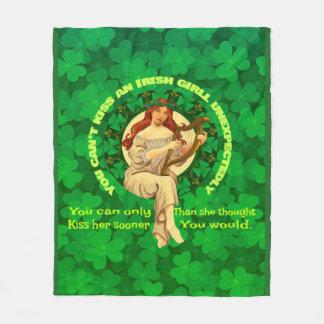 Kiss An Irish Girl Fleece Blanket