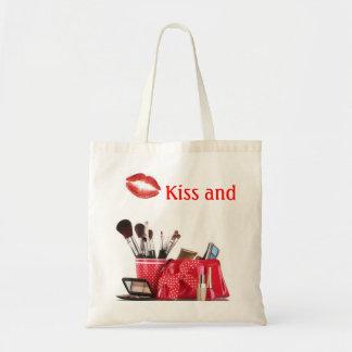 """Kiss and Makeup"" tote bag"