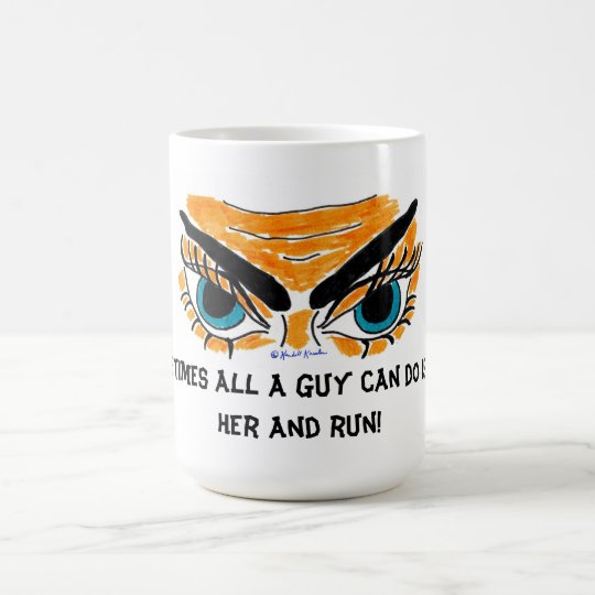 Kiss and Run Coffee Mug