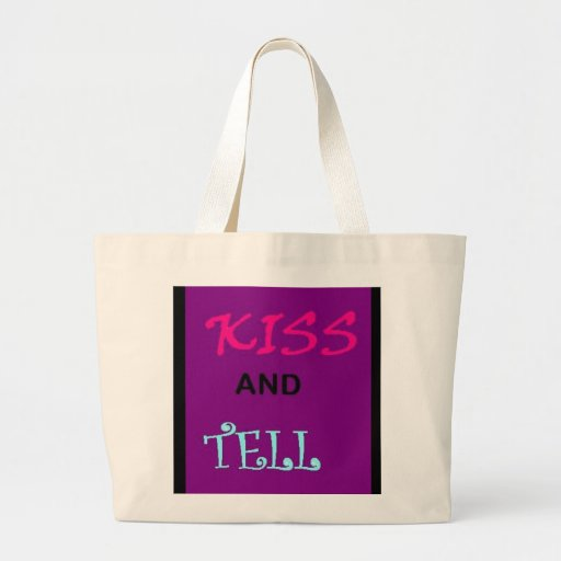 kiss and tell canvas bags
