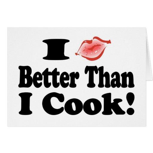 Kiss Better Than Cook Card