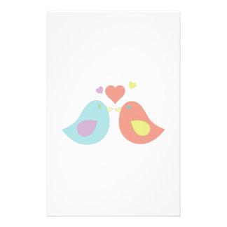 Kiss Birds Personalized Stationery