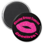 Kiss Breast Cancer Goodbye Fridge Magnets