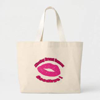 Kiss Breast Cancer Goodbye Large Tote Bag