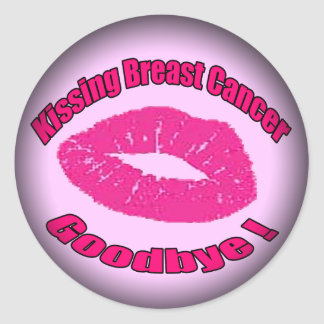 Kiss Breast Cancer Goodbye Classic Round Sticker