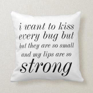 kiss bug pillow throw pillows