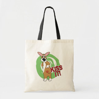 Kiss Butt Corgi Tote Bag Canvas Bag