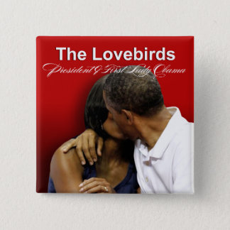 KISS CAM Lovebirds President & First Lady Obama Button