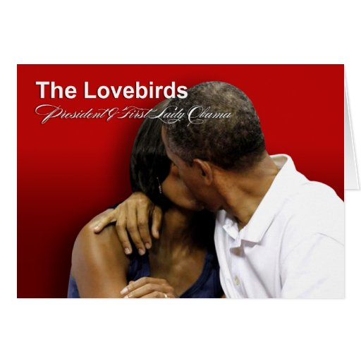 KISS CAM Lovebirds President & First Lady Obama Card