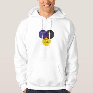 Kiss Class Venn Diagram Large Logo Hooded Pullover