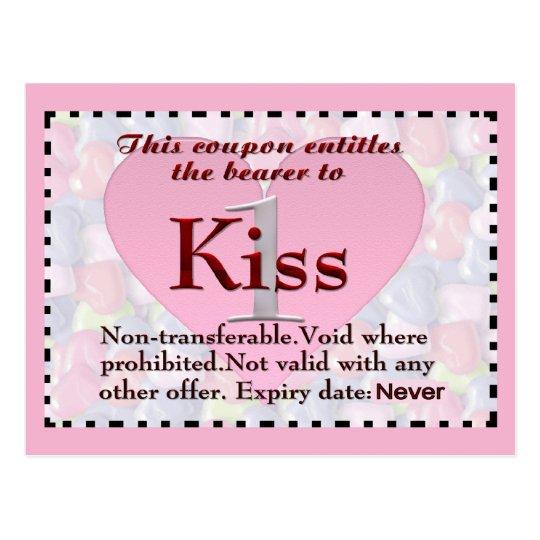 Kiss Coupon Postcard