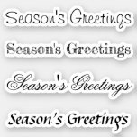Kiss-Cut Custom Greeting x4 #22 (Season's Greetin) Sticker