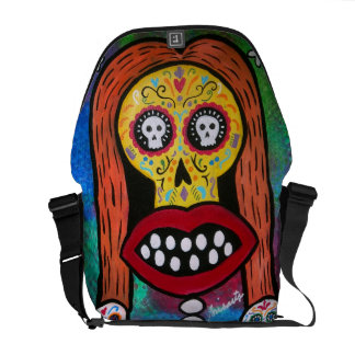 KISS DAY OF THE DEAD MESSENGER BAG