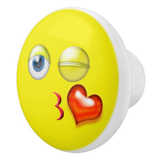 Kiss Emoji Ceramic Knob
