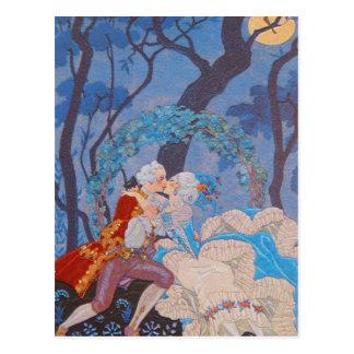 Kiss Fahion Plate Queen Marie Antoinette ~Postcard Postcard