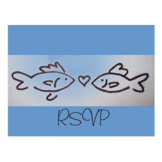 kiss fish RSVP card