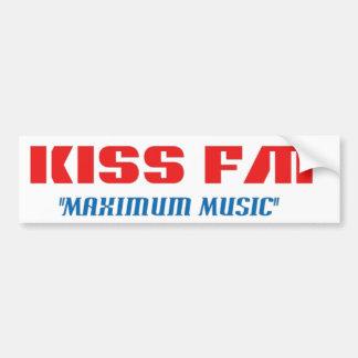Kiss FM Car Bumper Sticker