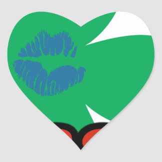 KISS FM Ireland Heart Sticker