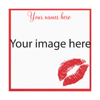 Kiss frame for your picture canvas print