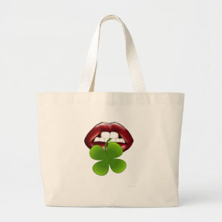 kiss hot irish gift t shirt large tote bag