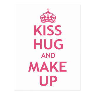 Kiss Hug and Make Up Postcard