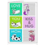 Kiss & Hug Dog Happy Mother's Day Card