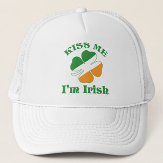 Kiss I Am Irish Trucker Hat