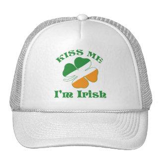 Kiss I Am Irish Trucker Hat