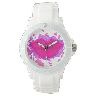Kiss It Paint Splatter Watch