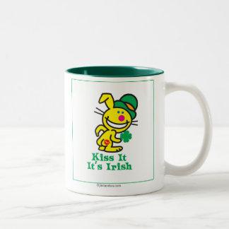 Kiss It Two-Tone Coffee Mug