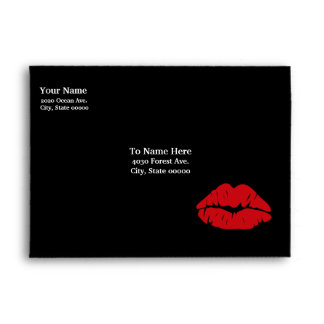 Kiss Kiss Greeting Black Envelope