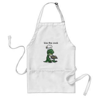 kiss, kiss the cook adult apron