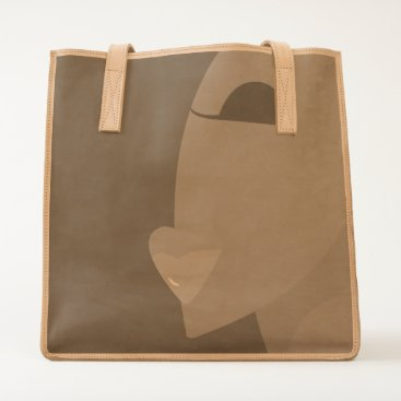 Beach Themed KISS Leather Tote