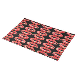 Kiss Lips Dinner Place Setting Place mat