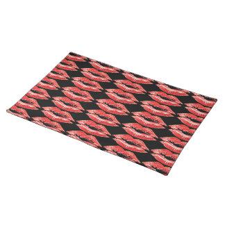 Kiss Lips Dinner Place Setting Place mat Cloth Place Mat