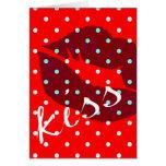 Kiss Lips Greeting Cards